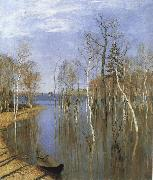 Levitan, Isaak Fruhling, flood oil painting picture wholesale